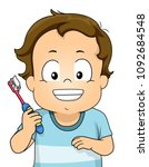 illustration of a kid boy... | Shutterstock .eps vector #1092684548