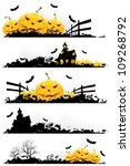 grunge halloween banner with...   Shutterstock .eps vector #109268792
