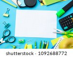 a frame of school subjects on a ...   Shutterstock . vector #1092688772