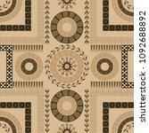 seamless pattern with ancient... | Shutterstock .eps vector #1092688892