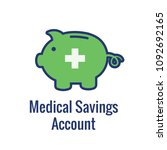 medical tax savings w health... | Shutterstock .eps vector #1092692165