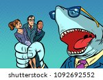 shark boss business and office... | Shutterstock .eps vector #1092692552