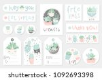 collection of redy to use gift... | Shutterstock .eps vector #1092693398