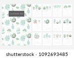 calendar 2019. stock vector.... | Shutterstock .eps vector #1092693485