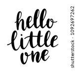 hand drawn lettering hello... | Shutterstock .eps vector #1092697262