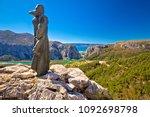 amazing view of cetina river...   Shutterstock . vector #1092698798