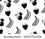 fruit seamless pattern. summer...   Shutterstock .eps vector #1092701336