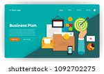 mock up design website flat... | Shutterstock .eps vector #1092702275