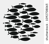 school of fish. a group of... | Shutterstock .eps vector #1092708065