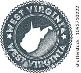 west virginia map vintage dark... | Shutterstock .eps vector #1092710222