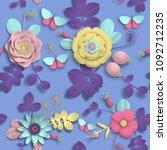 Paper Craft 3d Wild Rose...