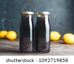 detox activated charcoal black... | Shutterstock . vector #1092719858
