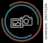 camera with photo icon  vector... | Shutterstock .eps vector #1092721256