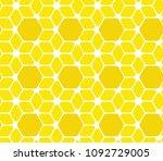 geometric hive background.... | Shutterstock . vector #1092729005