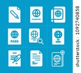 filled document 9 vector icons...