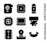 filled technology 9 vector...