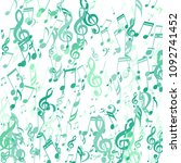 falling musical notes. creative ... | Shutterstock .eps vector #1092741452