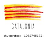 flag of catalonia isolated on... | Shutterstock .eps vector #1092745172