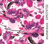 vintage vector seamless pink... | Shutterstock .eps vector #109274732