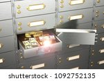 safe with an open cell  full...   Shutterstock . vector #1092752135