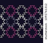 ethnic boho seamless pattern.... | Shutterstock .eps vector #1092761312
