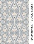 seamless damask pattern.... | Shutterstock .eps vector #1092763556