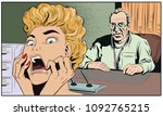stock illustration. doctor in... | Shutterstock .eps vector #1092765215