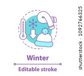 winter season concept icon.... | Shutterstock .eps vector #1092766325