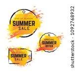 summer sale banner  tag ... | Shutterstock .eps vector #1092768932