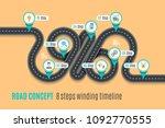 road concept timeline ...   Shutterstock .eps vector #1092770555