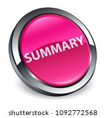 summary isolated on 3d pink... | Shutterstock . vector #1092772568