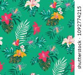 seamless tropical pattern in... | Shutterstock .eps vector #1092774215