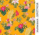 seamless tropical pattern in... | Shutterstock .eps vector #1092774218