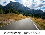 beautiful mountain road with...   Shutterstock . vector #1092777302