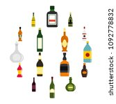 bottle forms icons set in flat... | Shutterstock .eps vector #1092778832