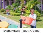 cute asian child having fun at... | Shutterstock . vector #1092779582