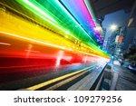 long exposure shot of blurred... | Shutterstock . vector #109279256