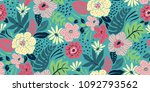 seamless floral pattern in... | Shutterstock .eps vector #1092793562