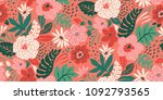 seamless floral pattern in... | Shutterstock .eps vector #1092793565