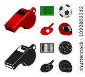 field  stadium with markings... | Shutterstock .eps vector #1092803312