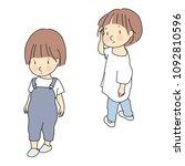 vector illustration of child...   Shutterstock .eps vector #1092810596