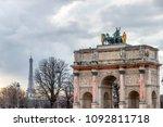 triumphal arch  arc de triomphe ... | Shutterstock . vector #1092811718