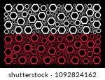 poland national flag... | Shutterstock .eps vector #1092824162