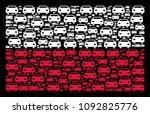 poland national flag pattern...   Shutterstock .eps vector #1092825776