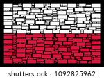 poland national flag collage...   Shutterstock .eps vector #1092825962