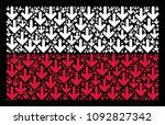 poland national flag pattern...   Shutterstock .eps vector #1092827342