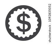 coin icon  usa money symbol ... | Shutterstock .eps vector #1092835052