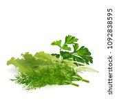 fresh green plant  nutritious... | Shutterstock .eps vector #1092838595