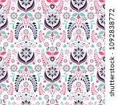 folklore floral ornament.... | Shutterstock .eps vector #1092838772