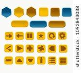 vector button design | Shutterstock .eps vector #1092843038